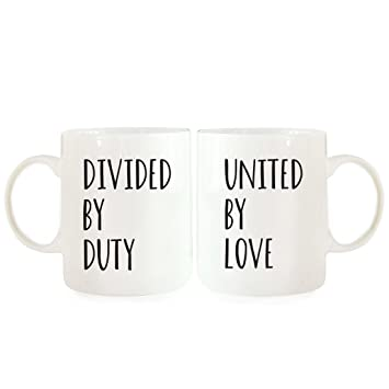 Andaz Press Coffee Mugs Gift Set Divided By Duty United Love 2