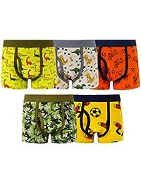 Boys Spandex Boxer Briefs Kids Underwear 5 Pack
