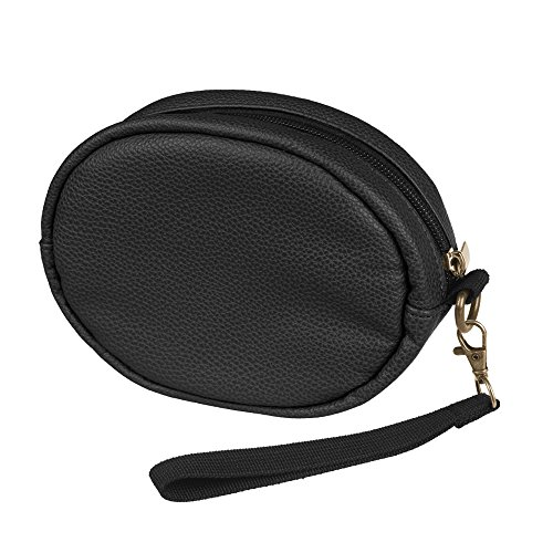 Fintie Carrying Case for Beats Solo 3/Solo 2 Headphones - Premium Vegan Leather Protective Cover Portable Travel Bag for Beats Solo3/Solo2/Solo HD Wireless On-Ear Headphones, Black