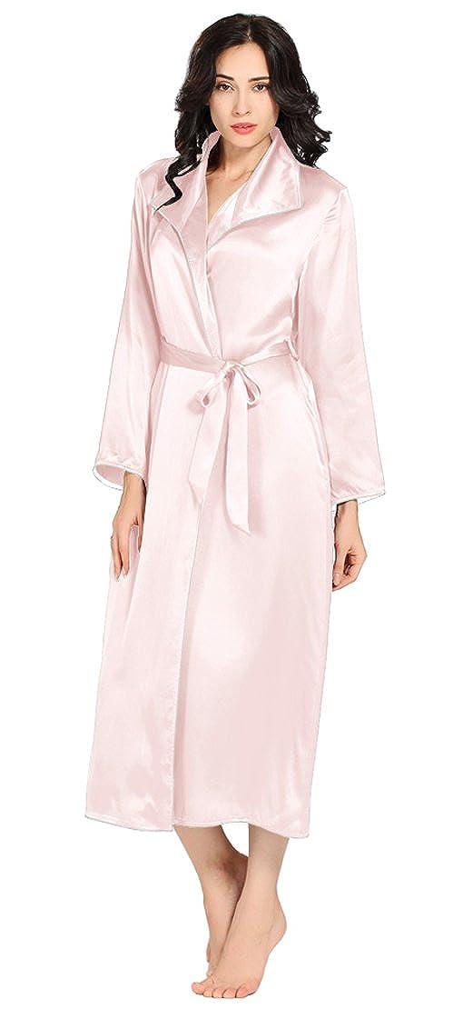 Light Pink LilySilk Luxury Silk Robe for Women 100% Pure Silk 22 Momme