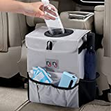 njnj Waterproof Car Trash Can Garbage Bin,Super Large Size Auto Trash Bag for Cars with Lid and Storage Pockets,Leak Proof Vehicle Car Organizer Hanging: more info
