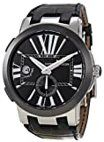 Ulysse Nardin Executive Dual Time Automatic Black Leather Mens Watch 243-00-42