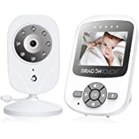 Dragon Touch DT24 Pro Video Baby monitor with Camera, Two-Way Audio Baby Camera Monitor, Infrared Night Vision, Lullaby…