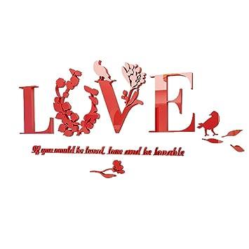 Winomo 3d Wandaufkleber Acryl Buchstabe Love Und Englische Spruche