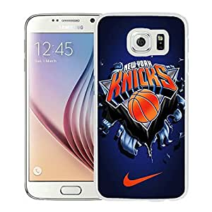 New Custom Design Cover Case For Samsung Galaxy S6 New York Knicks 6 White Phone Case wangjiang maoyi