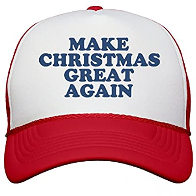 Make Christmas Great Again Hat: Snapback Mesh Trucker Hat