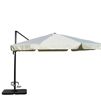 heredeco® Patio 10 ft Deluxe cuadrado Offset Patio paraguas voladizo, al aire libre para