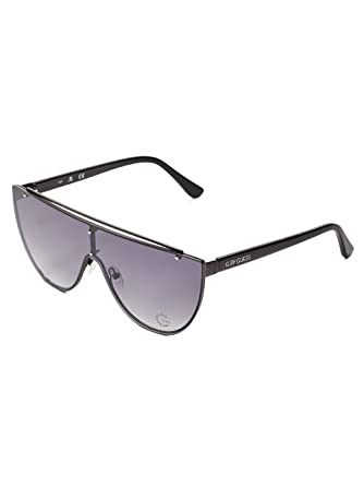 6804a6fff1 At Guess Women s Shield Sunglasses Gradient By Flat Amazon G 0xw5EqCv0