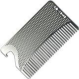 Go-Comb - Wallet Comb + Bottle Opener - Sleek, Durable Stainless Steel Hair + Beard Comb