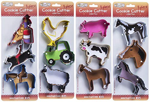 (Tough 1 3 Piece Farm Cookie Cutter Collection)