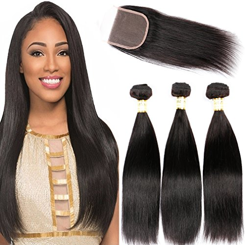 Straight Hair Bundles Peruvian Hair Weave Bundles 3 Bundles Deal 100% Human Hair Bundles Non Remy Hair Extensions Free Shipping Aesthetic Appearance Hair Extensions & Wigs