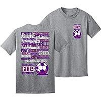 Soccer T-Shirt: Girls Soccer T-Shirt: Girls are Made of...