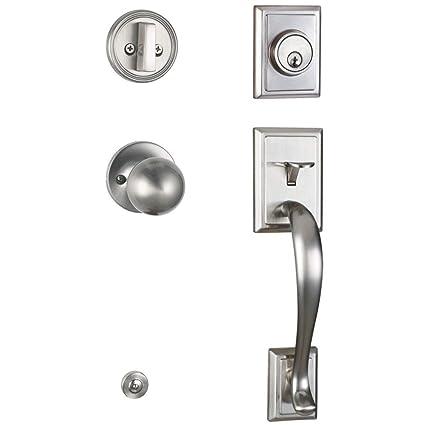 Etonnant Entry Door Handle Front Door Handleset Exterior Entry Door Knob And Deadbolt  Lock Set Door Entry