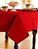 "Red Garnet Medallion Damask Tablecloth 60"" x 102"" offers"