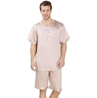 970e8db97c BOLAWOO Men s Pajamas Set Summer Bathing Pajamas Top Sleeve Short and Pajama  Pants Fashion Brands Two