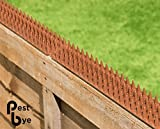 TheOutDoorShop Cat Repeller Fence and wall spikes - strip of 8 Brown