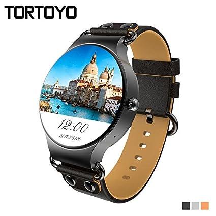 Amazon.com: TORTOYO KW98 3G Smart Watch Phone Android OS 5.1 ...
