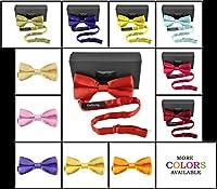 Moda Di Raza - Classic Men's Bow Tie Formal Tuxedo PreTied Bow Ties - Gift Box