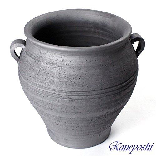 鉢 KANEYOSHI 【日本製/三河焼】 長壺型 取っ手付 植木鉢 陶器 植物 36cm 9号 B079Q1FPF8   9号