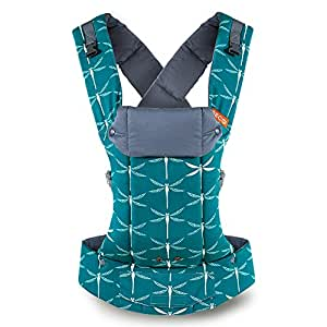 Beco Gemini Baby Carrier Dragonfly - Multi-Position Soft Structured Sling w/ Adjustable Straps & Comfort Padding for Infant/Toddler Hip Support - Dragonfly with Pocket