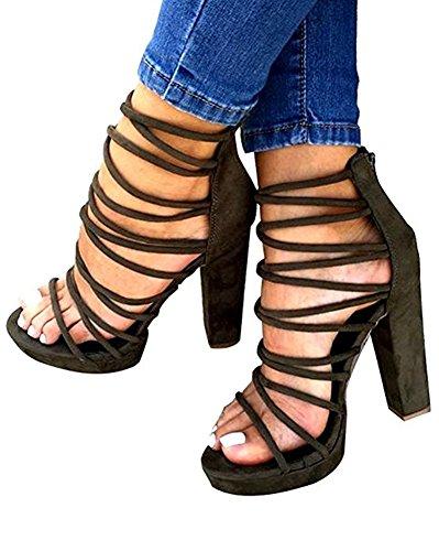 Huiyzuhi Womens Bandage Bohemian Sandals product image
