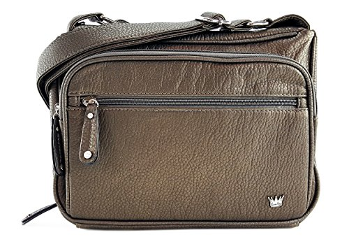 Purse King Magnum Concealed Carry Handbag (Gunmetal Bronze)