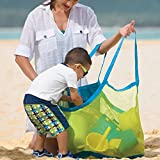 TFY Large & Portable Family Size Beach Mesh Bag Tote – Great for Toys, Balls and Beach Items