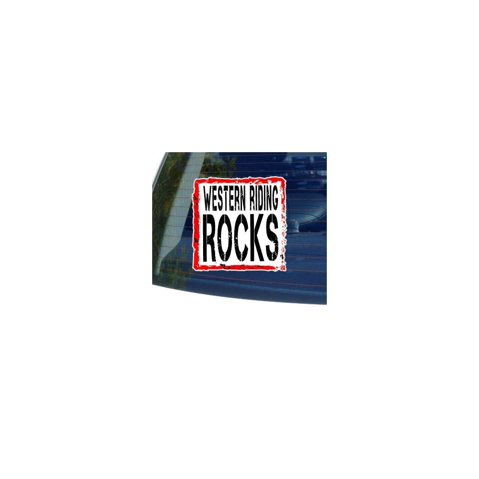 Western Riding Rocks   Horse   Window Bumper Sticker