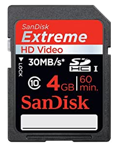 SanDisk 4GB Extreme SDHC Class 10 Memory Card