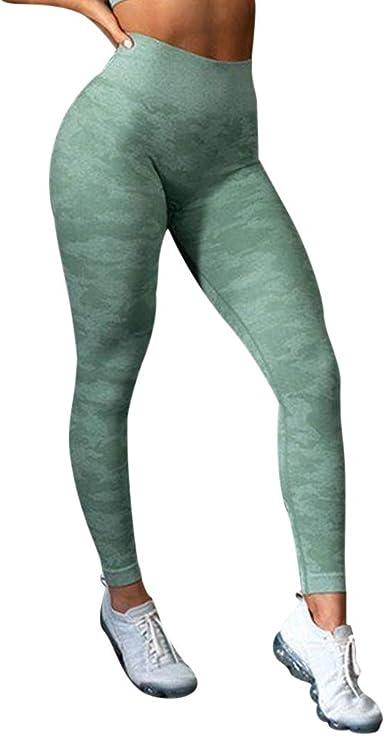 RYTEJFES Pantalones Sin Costura Cadera Mujer Pantalones De ...
