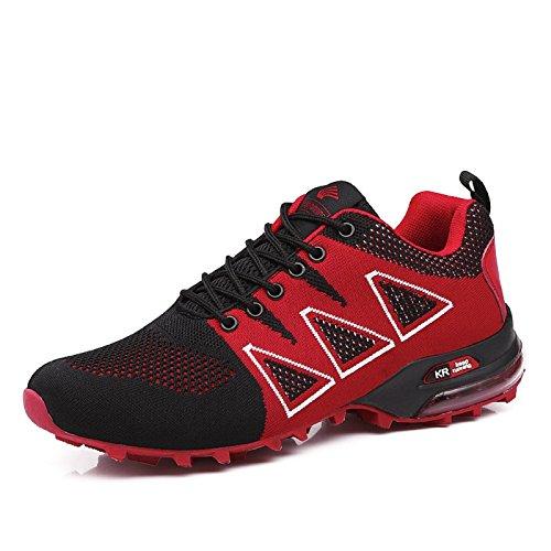 Nero Sneakers Ginnastica Uomo 1 Scarpe Fitness da Interior all'Aperto tqgold Sportive Rosso Corsa Running xqAHUnw
