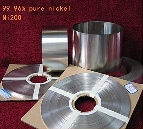 Tool Parts 0.15mm x 30mm 99.96/% Pure Nickel Plate Strap Strip Sheets pure nickel for Battery electrode Spot Welding Machine 18650 nickel Color: 1 M