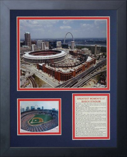 Legends Never Die Busch Stadium Old and New Framed Photo Collage, 11x14-Inch