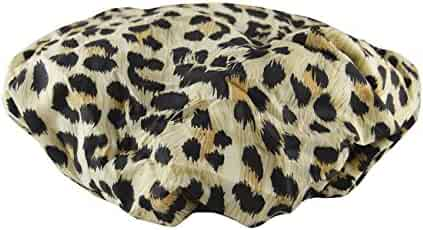 Betty Dain Socialite Collection Terry Lined Shower Cap, Safari Spots