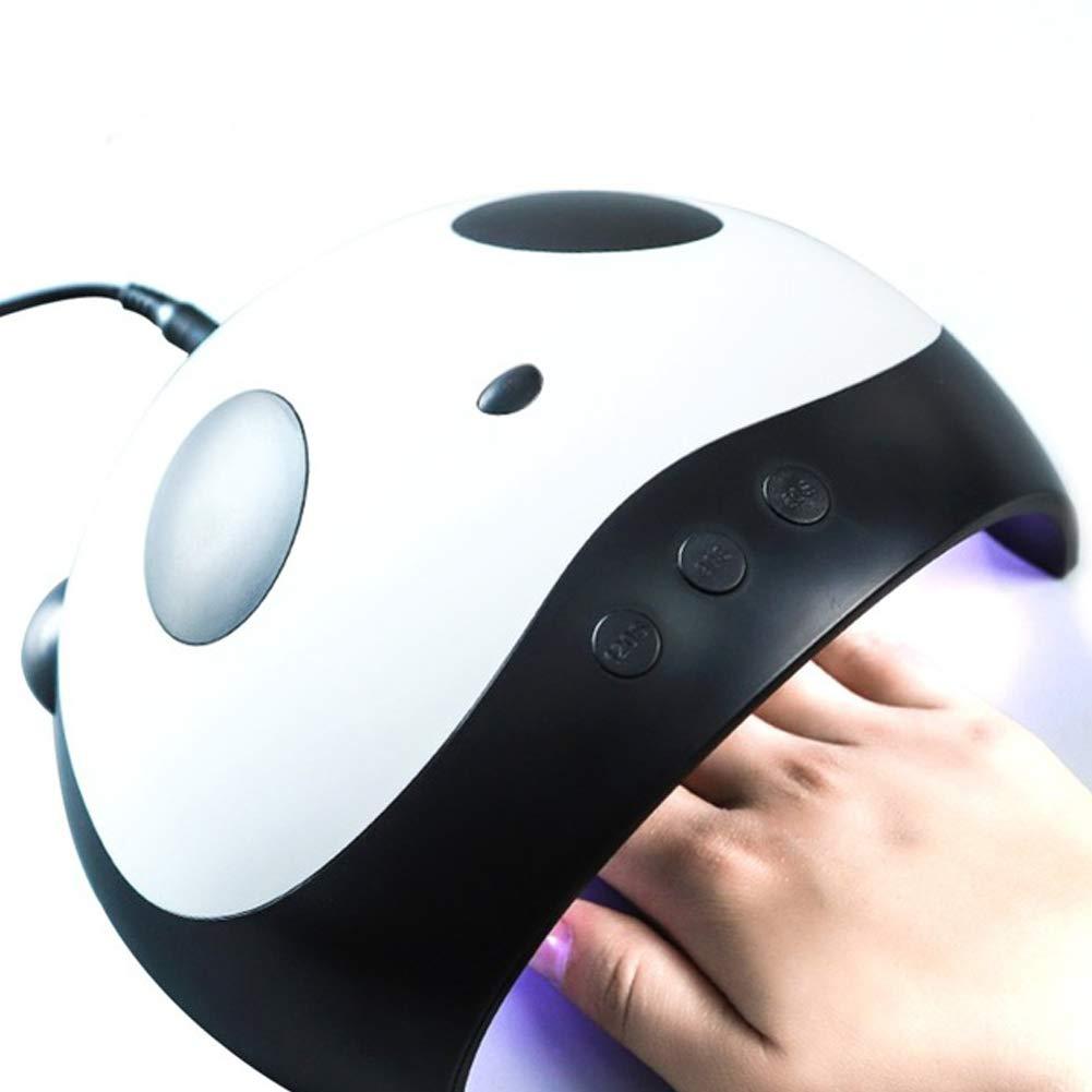 LEACK Lá mpara Ultravioleta del Clavo de 24W LED con el señ or de Ajuste del Contador de Tiempo 3 para los Clavos del Gel y el curado del Clavo del Dedo del pie