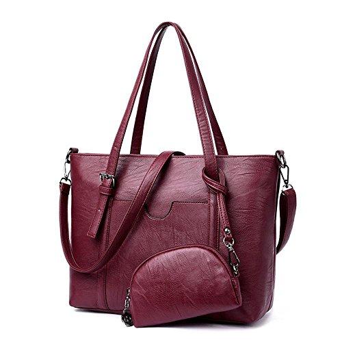 Aoligei Baotan femme trendy pu assumer gros chignon sac à main A