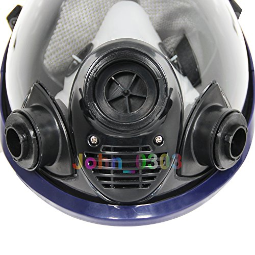 Complete Suit Trudsafe 6800 Painting Spraying Full Face Gas Chemical Mask Respirator, Dust Mask, FDA Tested, Two Kinds of Connectors, Good Tightness, Filters Included by Trudsafe (Image #4)