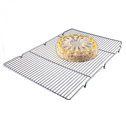 Focus Foodservice 301WS Cooling Grate With Integrated Feet, 16-1/2'' x 24-1/2'' x 1'', Chrome Plated by Focus Foodservice