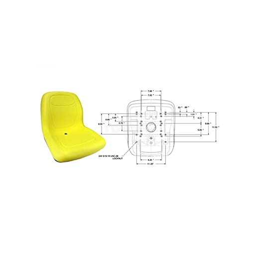 Rotary 13346 - Asiento Universal para cortacésped John Deere ...