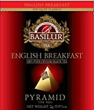 Basilur, English Breakfast Tea, Pure Ceylon Black Tea, Biodegradable Luxury Tea Sachets for Hotels, Restaurants, Cafes and Tea lovers, Ultra-Premium Tea Sachets in Box, 50 Piece