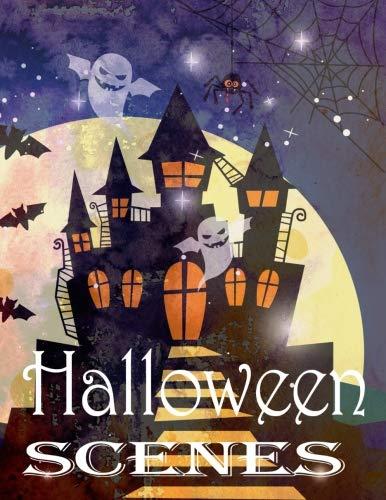 Halloween Scenes Coloring Book: Bootiful & Scary Halloween -