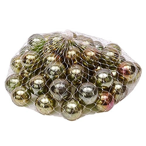 stylewise 45 Pieces Decoration Glass Assortment Swirl Home Decor Marble Game Boulder for $<!--$9.99-->