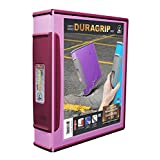 Storex DuraGrip 2-Inch View Binder, D-Ring, Lavender and Red Wine Cover (33856U01C)