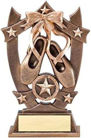 3dゴールドスポーツスターBallet Dancing Awards – Star Ballerina Dancer Player Trophy – カスタマイズNow – Personalized Engravedプレート、含まに添付Award – ハンドペイントデザイン – Decade Awards