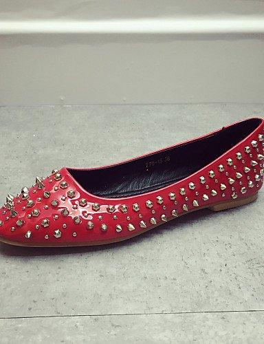 uk4 gray elegante de rojo de Classic casual 7 zapatos us6 cerrado tacón zapatos mujer gris 5 negro la cn37 5 Flats eu37 Toe 5 PDX 1a45Inxqww