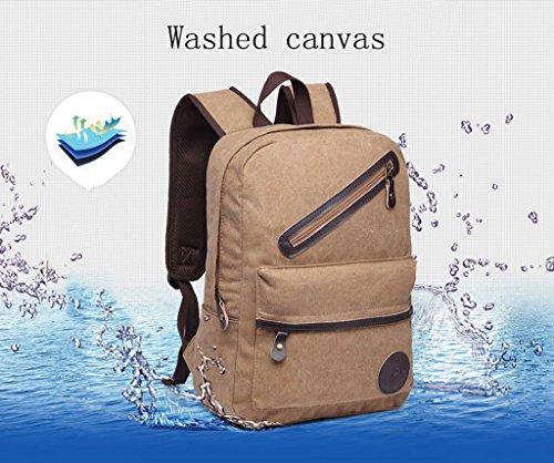 ZOUQILAI High-Capacity-Persönlichkeit Leinwand Tasche Student Tasche Freizeit Computer Tasche Reisetasche Sporttasche (Farbe : Schwarz) Schwarz