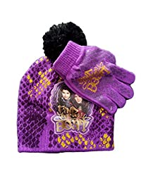 Disney Descendants Beanie/Knit Hat & Glove Set