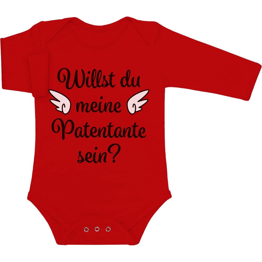 Geschenkidee - Willst du meine Patentante sein? Baby Langarm Body VSCQwwl6W