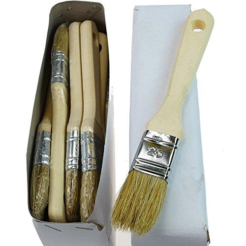 ROTIX-9132 12 x Flachpinsel Lackier-Pinsel (25 mm)