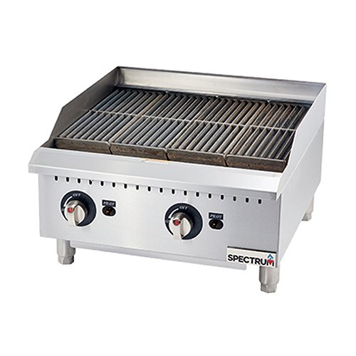 Winco GCB-24R, 24-Inch Spectrum Gas Char Broiler with 2 Cooking Zones by Winco (Image #1)